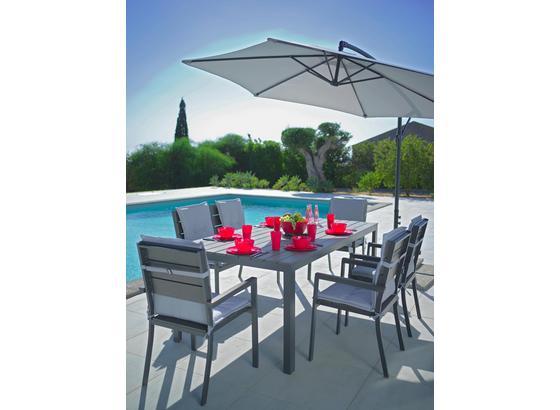 Záhradný Stôl Sammy 5 - sivá, kov/plast (200/74/100cm) - Mömax modern living