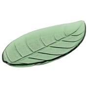 Dekoteller Blattform - Grün, MODERN, Glas (35,5/17/3,5cm)