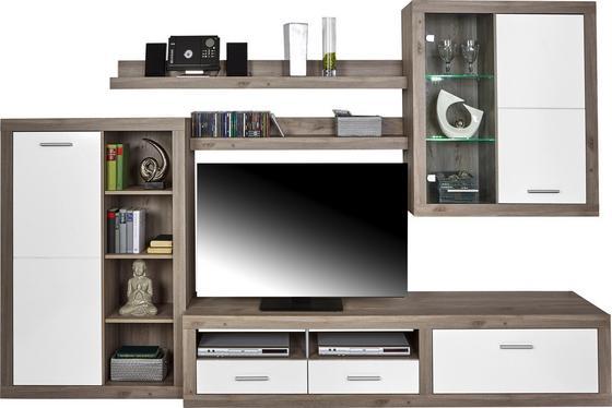 Obývacia Stena Cancan 1 - farby strieborného duba, Moderný, drevený materiál (290/189/48cm)