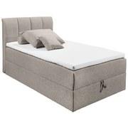 Boxspringbett mit Topper & Bettkasten 120x200 Granada - Schlammfarben/Schwarz, Basics, Holzwerkstoff/Textil (120/200cm) - MID.YOU