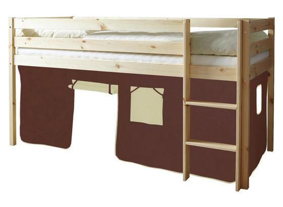 Spielbett Malte 90x200 cm Braun/Beige - Beige/Braun, Natur, Holz (90/200cm) - MID.YOU