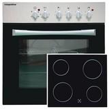 Herdset Basic 2-Teilig - Silberfarben/Schwarz, Basics, Glas/Metall (59,5/59/51,5cm) - Livetastic