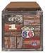 Garderobenbank Timber 58cm Vintageoktik - Multicolor/Braun, KONVENTIONELL, Holzwerkstoff/Textil (58/42/38cm)
