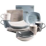 Kombiservice 16-Tlg. Kombiservice Derby - Beige/Braun, Basics, Keramik