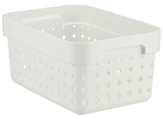 Košík Seoul - S - biela, Konvenčný, plast (26/18/12,6cm)
