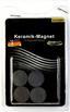 Magnetset 8 Stk. - Schwarz, KONVENTIONELL, Keramik (1.8cm)