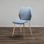 Jedálenská Stolička Lene - modrá/sivá, Moderný, kov/drevo (45/87/55cm) - Modern Living