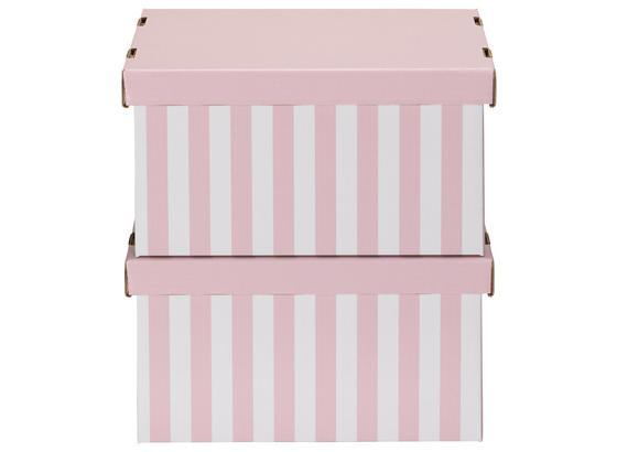 Box S Víkem Jimmy - bílá/růžová, karton (34/18/25cm) - Mömax modern living