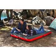 Luftbett Roll & Relax Outdoor 203x152x22cm 67703 - Rot/Grau, MODERN, Kunststoff (203/152/22cm) - Bestway