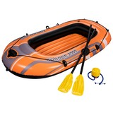 Schlauchboot Kondor 2000 Set für 2p 188x98cm 69160176 - Schwarz/Orange, MODERN, Kunststoff (188/98/30cm) - Bestway