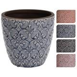 Übertopf Kelvin - Blau/Lila, LIFESTYLE, Keramik (13,5/12,5cm)