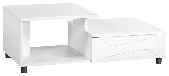 Couchtisch Newport 110cm Weiss - Weiß, MODERN, Holzwerkstoff (110/40/58cm)