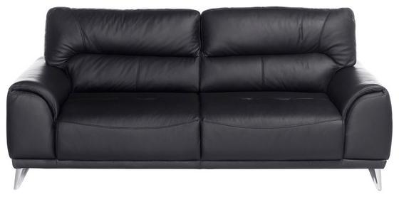 Dreisitzer-sofa Frisco - Chromfarben/Schwarz, MODERN, Textil (210/92/96cm)