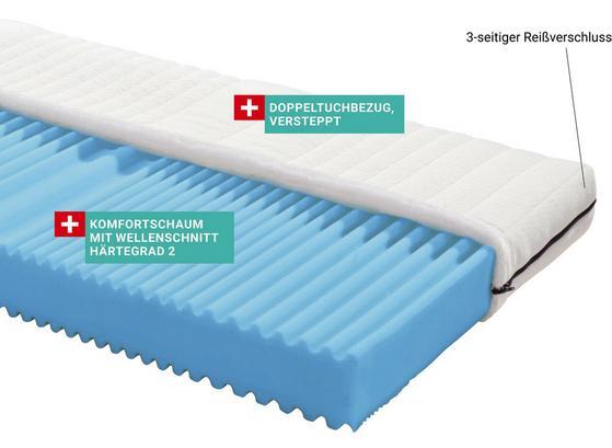 Rollbare Komfortschaummatratze mit Härtegrad H2