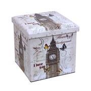 Skladací Box Setta 4 - Moderný, umelá hmota/drevený materiál (37/37/37cm)