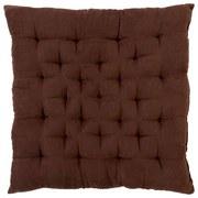 Sitzkissen Agatha - Braun, KONVENTIONELL, Textil (40/40/6cm) - OMBRA