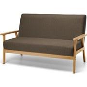 Sofa Gummi Holz Braun - Braun, MODERN, Holz/Kunststoff (134/64/77cm)
