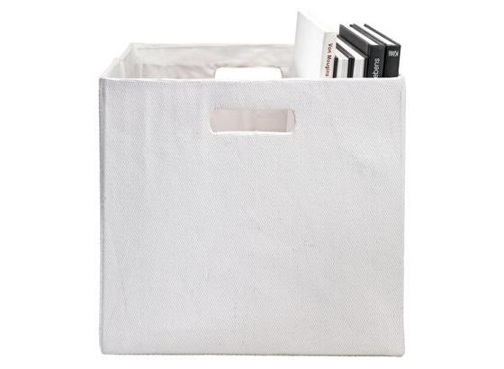 Skladací Box Bobby - biela, Moderný, plast/papier (33/33/32cm) - Mömax modern living