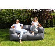 Outdoorsitzsack Lounge Sofa 185 cm Anthrazit - Anthrazit, KONVENTIONELL, Textil (185/60/85cm)