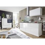 Küchenblock Jazz 4 inkl. Geräte und Spüle - Blau/Weiß, MODERN, Holzwerkstoff (200+120cm) - Xora