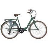 Citybike Damenrad 28'' City-Six 768c - Grün, Basics, Metall (180/70/80cm)