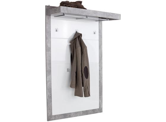 Vešiakový Panel Malta - sivá/biela, Moderný, kompozitné drevo (94,9/147,7/34cm)