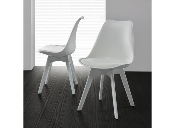 Stolička Vega - biela, Moderný, plast (46/83/54cm) - Modern Living