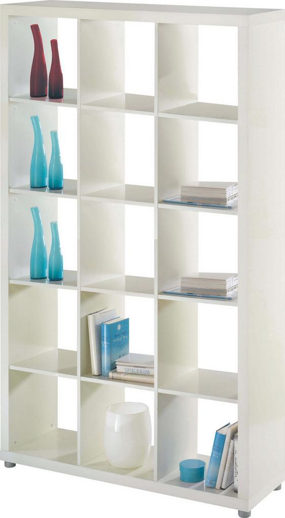 Regál Aron 15 Biely - biela, Moderný, drevený materiál (117,2/193,2/35cm)