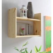 Wandregal Mona B: 60 cm Kieferfarben - Kieferfarben, Basics, Holz (60/45/20cm) - Livetastic