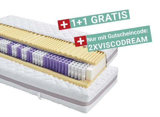 Taschenfederkernmatratze Visco Dream H3 90x200 - Weiß, KONVENTIONELL, Textil (90/200cm) - Primatex Deluxe