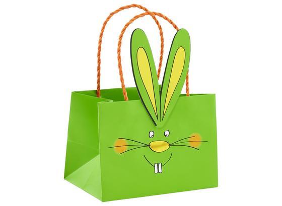 Darčeková Taška Bunny - oranžová/žltá, papier (18/13/12cm)