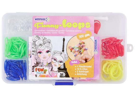 Schmuckbastelset Funny Loops - Multicolor, Basics, Kunststoff