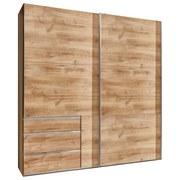 Schwebetürenschrank mit Laden 250cm Level 36a, Eiche Dekor - Eichefarben, MODERN, Holzwerkstoff (250/216/65cm) - MID.YOU