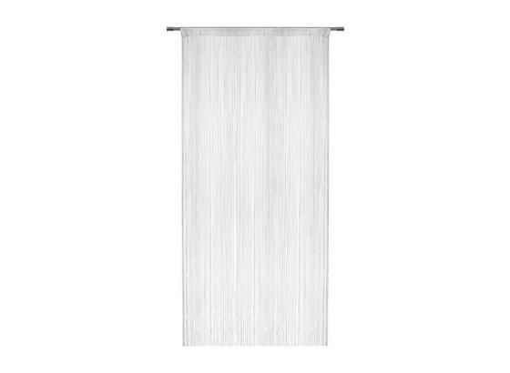 Provázková Záclona Franz - bílá, textil (90/245cm) - Modern Living