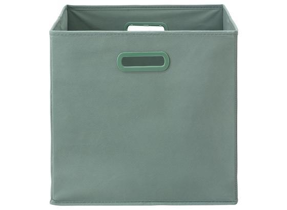 Skládací Krabice Elli -ext- -top- - jadeitově zelená, Moderní, karton/textil (33/33/32cm) - Modern Living