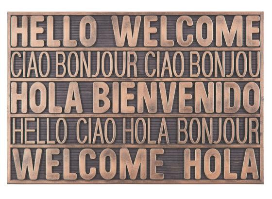 Dveřní Rohožka International Welcome - měděné barvy, Moderní, umělá hmota (40/60cm) - Mömax modern living