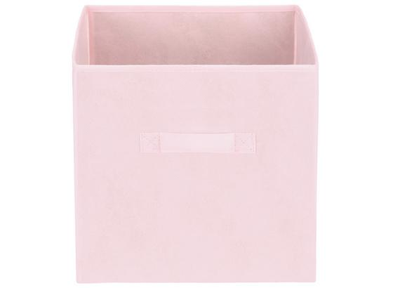 Tárolókosár Juana - Rózsaszín, konvencionális, Karton/Textil (31/31/31cm) - Luca Bessoni