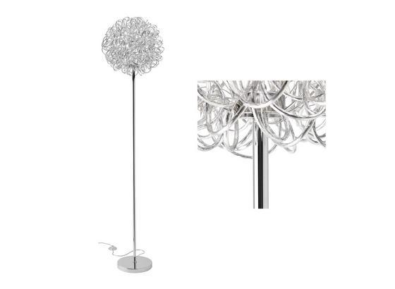 Led Stojaca Lampa Clea - chrómová/farby hliníka, Moderný, kov (40/175cm) - Modern Living