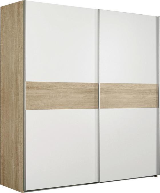 Skriňa S Posuvnými Dvermi Winner   *cenový Trhák* - farby dubu/biela, Moderný, umelá hmota/kov (170,3/190,5/61,2cm)