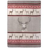 Wohndecke Jaquard 150x200 cm - Rot/Weiß, MODERN, Textil (150/200cm)