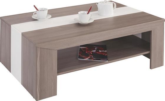 Dohányzóasztal Madras - Fehér/Sötétszürke, konvencionális (110/40/70cm) - OMBRA