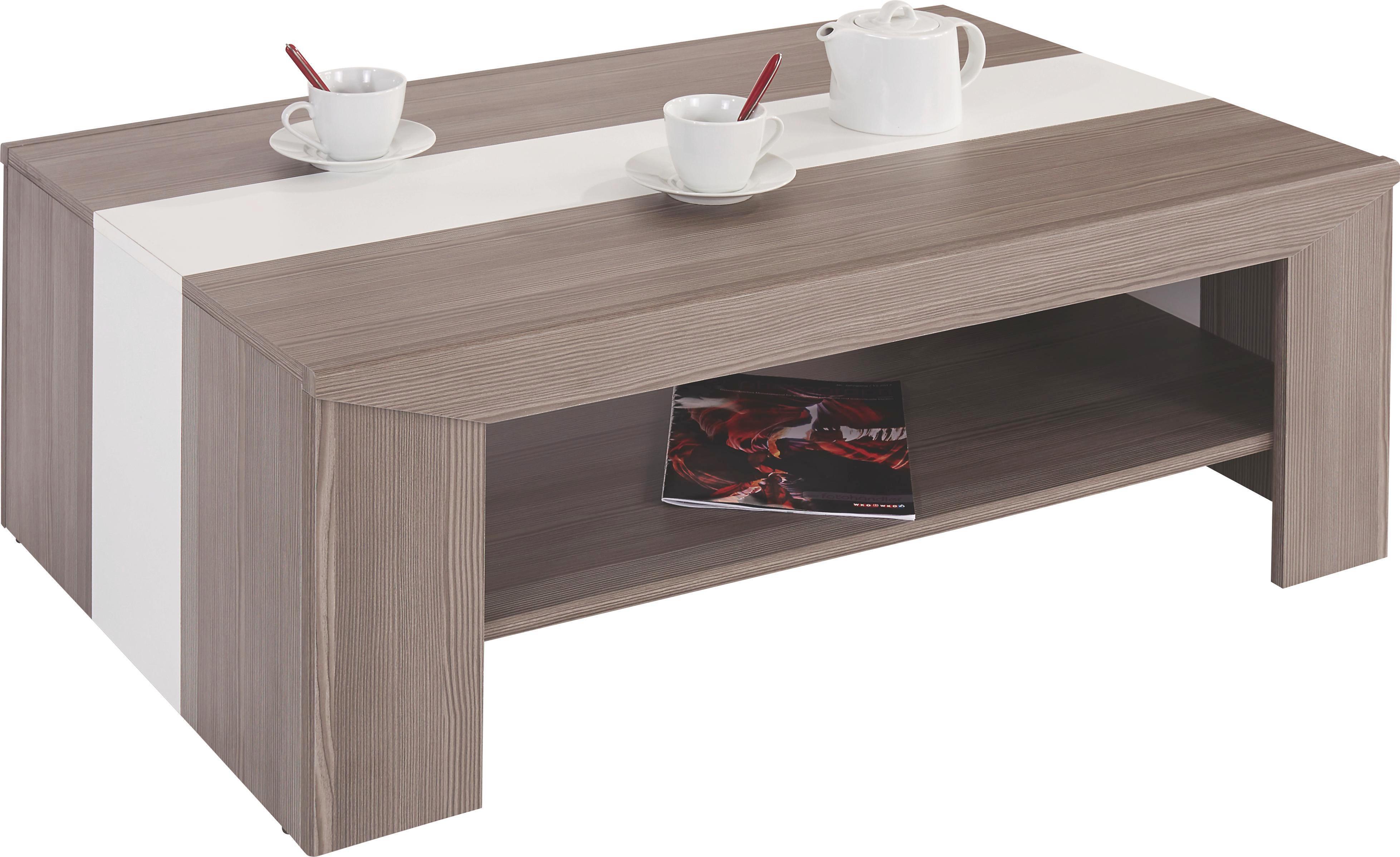 Dohányzóasztal Madras - sötétszürke/fehér, konvencionális (110/40/70cm) - OMBRA