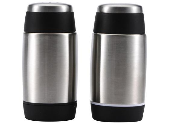 Soľnička A Korenička Blecher - čierna/farby ušľachtilej ocele, kov/plast - Premium Living