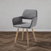 Jídelní Židle Nala - světle šedá/barvy buku, Moderní, dřevo/textil (55/79/57cm) - Modern Living