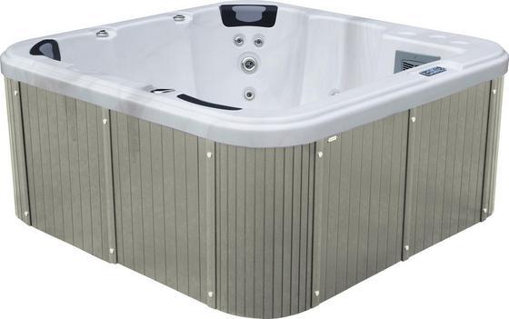 Whirlpool Acryl Rivoli 200 X 92 X 200 cm - Weiß/Grau, KONVENTIONELL, Holz/Kunststoff (200/92/200cm)