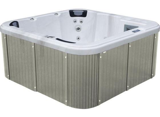 Whirlpool Acryl Rivoli 200x92x200 cm - Weiß/Grau, Design, Holz/Kunststoff (200/92/200cm)