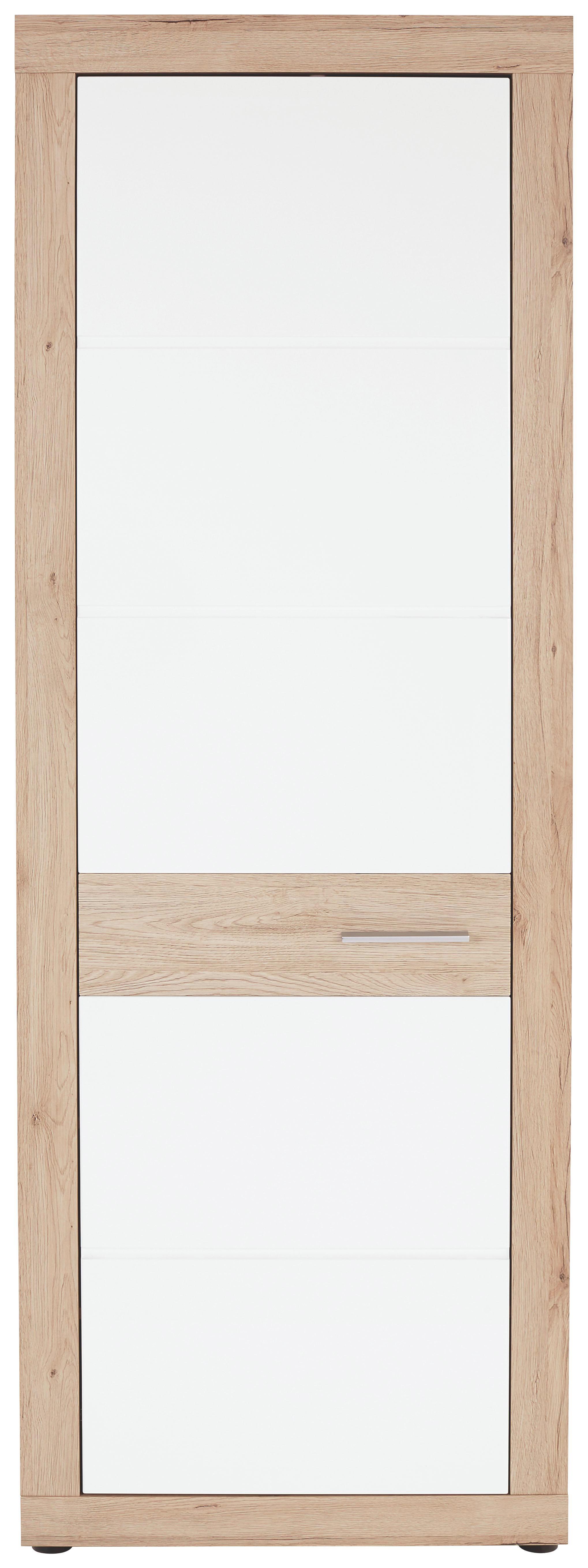Šatní Skříň Malta - bílá/barvy dubu, Moderní, dřevěný materiál (65/196,8/36cm)