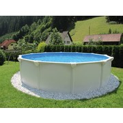 Stahlrahmenpool Set Supreme Ø 360 X H 132 cm - Weiß, MODERN, Kunststoff/Metall (360/132cm)