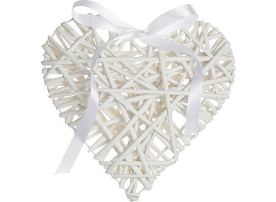 Ozdoba Dekorační Melanie - bílá, Romantický / Rustikální, dřevo/textil (30/5.5cm) - Mömax modern living