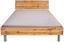 Futonbettrahmen Belia, 140x200 cm - Eichefarben/Alufarben, KONVENTIONELL, Holzwerkstoff (140/200cm)